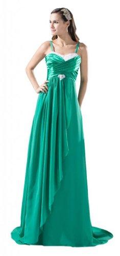 Orifashion para vestido de noche mujer a forma de gr ¨ ¹ N Verde