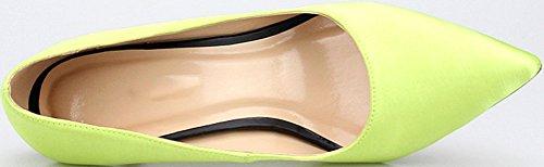 Abby G1 Delle Donne Plus Size Gattino Discoteca Con Tacco Partito Festa Di Vestirsi Croce Festa Nuziale Di Fronte Us5-15 Punta Chiusa Slip On Pompe Di Raso Verde