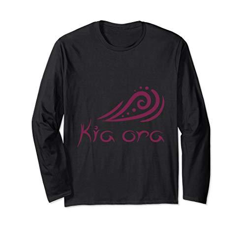 Kia Ora Hello Wave in Maori New Zealand Polynesia Gift Idea Long Sleeve T-Shirt (All The Best In Maori)