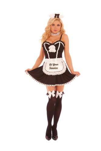 Elegant-Moments-At-Your-Service-4pc-Womens-Adult-Costume-Black