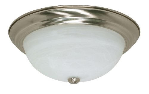 Ballerina Vanity Light with Frosted White Glass in Brushed