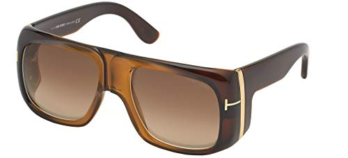 Tom Ford GINO FT 0733 BROWN/LIGHT BROWN SHADED 60/19/135 men Sunglasses (Tom Ford Acetat)