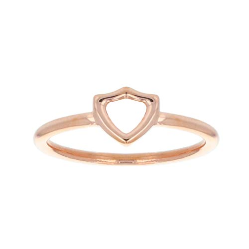 LDS Bookstore Rose Gold Open Shield CTR Ring - (4)