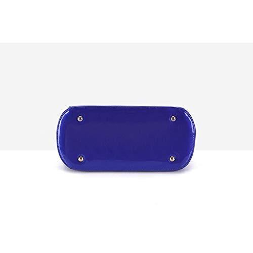 En Brillant Cuir Bandoulière Sac Pièces Messenger Trois Main Blue En Lady Carte BAILIANG Enveloppes Verni Forfait Sac à Paquet RF5Swq