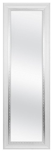 MCS Inch Over the Door Mirror, 17x53 Inch Overall Size (Full Wall Mirror Length White)