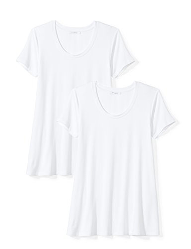 Daily Ritual Women's Jersey Short-Sleeve Scoop Neck Swing T-Shirt, White, X-Small