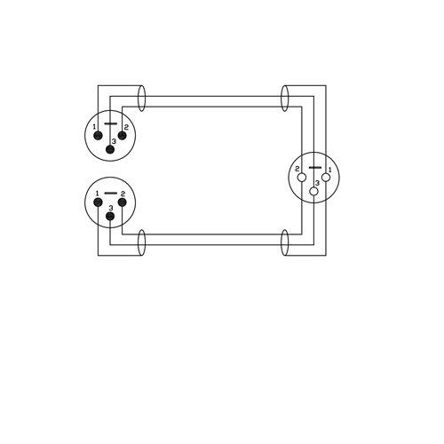31hK3epXTBL amazon com gls audio 6 inch patch y cable cords xlr female to