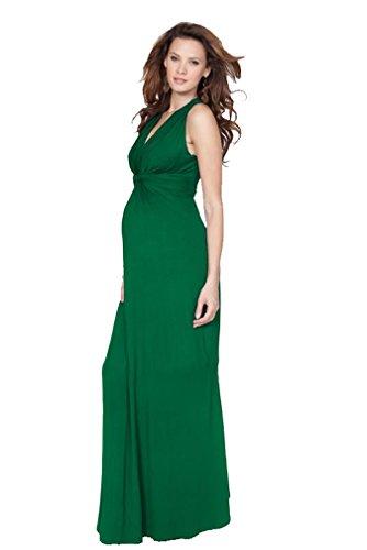 a4b62e7a018fb7 Emerald Knot Front Maternity Maxi Dress - Import It All