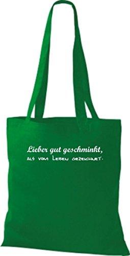 Shirtstown - Bolso de tela de algodón para mujer Verde - kelly