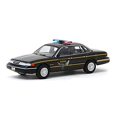 Greenlight 42910-E Hot Pursuit Series 34-1995 Ford Crown Victoria Police Interceptor - Ohio Highway Patrol 1/64 Scale: Toys & Games [5Bkhe1512594]