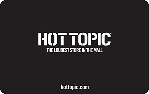 Amazon.com: Hot Topic - Tarjetas de regalo: Tarjetas de regalo