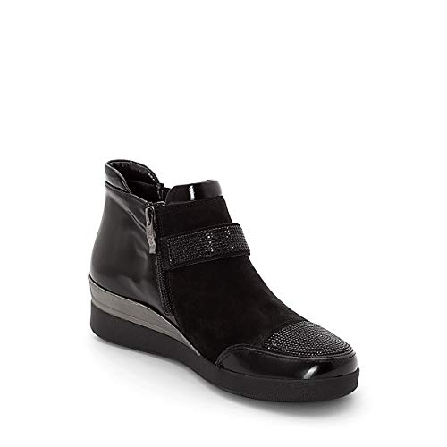 43330 Ara Noir Black Boot Jenny Ankle Womens IZxCqUwU
