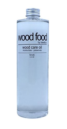 Wood Food Wood Care Oil - Protection for Cutting Boards, Furniture, Flooring, Toys and Salad Bowls (Hinoki, 400ml / 13.53oz)