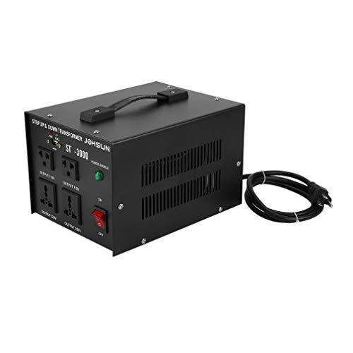 Homgrace 3000 W Voltage Converter Transformer, Heavy Duty Step Up and Down 110-220V (ST-3000W)