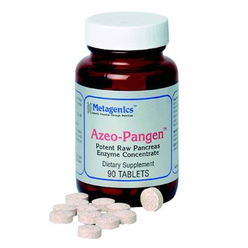 Azeo-Pangen - 90 Tablets by Nutri Advanced - Potent Raw Pancreas Enzyme Concentrate by Nutri Advanced