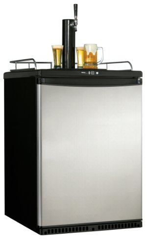 Danby DKC645BLS 5.8-Cu.Ft. Designer Beer Keg Cooler, Black/Stainless
