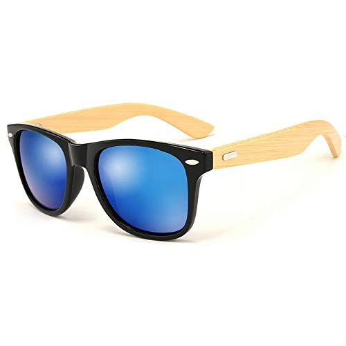 (Pausseo Bamboo Frame Sunglasses Wooden Mens Womens Retro Vintage Eyewear Running Cycling Fishing Driving Safety Softball Hiking Sports Lightweight Radiation Protection Summer Glasses)