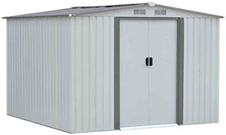 LeftCafe cobertizo de Almacenamiento para jardín o Garaje de Exterior de 6 x 8 pies con Techo Inclinado: Amazon.es: Hogar