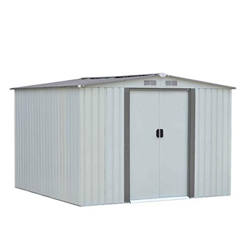 LeftCafe 6X8Ft Outdoor Garden Garage Backyard Storage Shed Building Sloped Roof ()