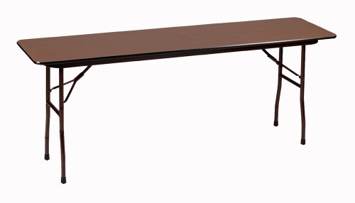 Correll CF1860PX 01 High Pressure Laminate Fixed Height Commercial Duty Top Folding Seminar Table, Rectangular, 18
