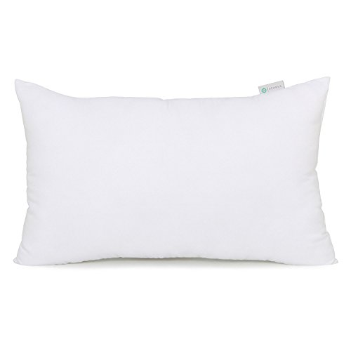Acanva Hypoallergenic Pillow Insert Form Oblong Rectangle Cushion Sham, 12