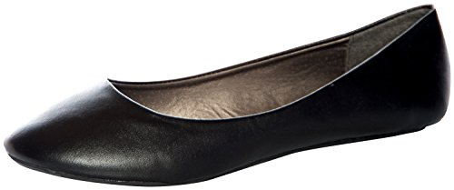 West Blvd Womens BALLET Flats Slip On Shoes Ballerina Slippers Black Pu US 10