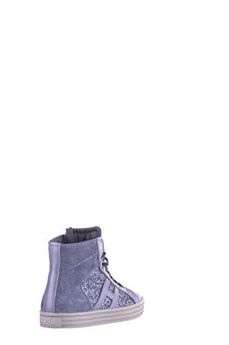 Hogan Hi Top Sneakers Donna MCBI148381O Camoscio Blu