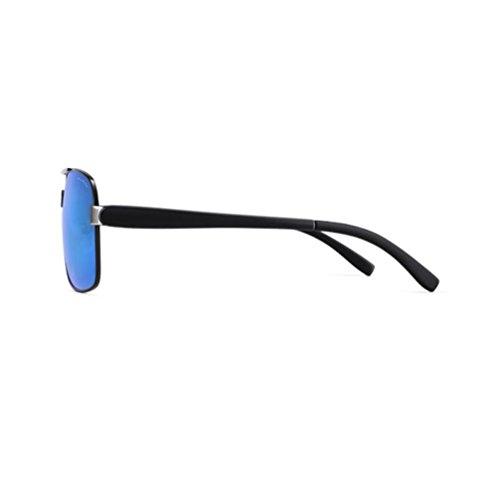 Type Lunettes en Blue PARZIN Polarisées avec Pochette Blue de Métal Homme Monture Aviateur Protection Soleil Léger UV400 étui Chiffon RRAfX8