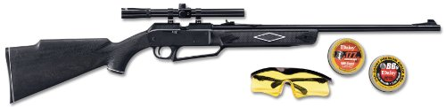 Daisy Powerline Air Rifle (880 Powerline Air Rifle Kit, Dark Brown/Black, 37.6 Inch)