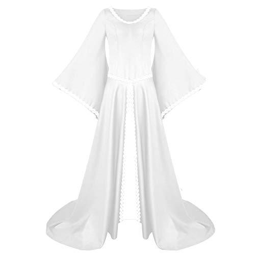 KAMA BRIDAL Women's Medieval Fancy Dress Victorian Gothic Halloween Costume White L]()