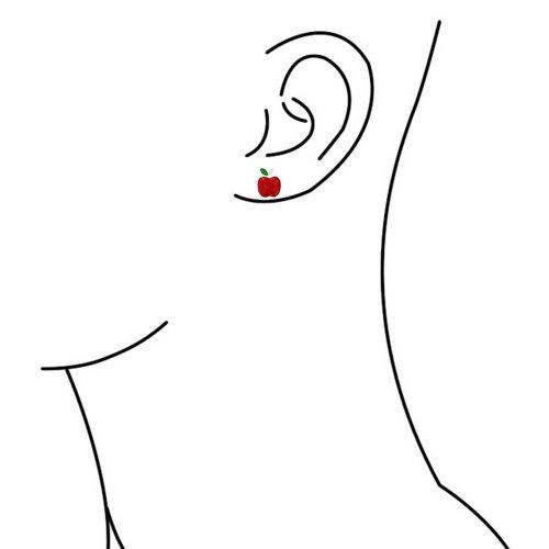 Bling Jewelry Boucles d'oreille fantaisie en Email coloré et Argent avec fermoir à clou