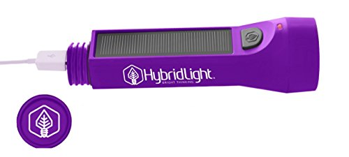 Hybridlight-Journey-Solar-Rechargeable-160-Lumen-LED-Waterproof-Flashlight-High-Low-Beam-USB-Cell-Phone-Charger-Built-In-Solar-Panel-Charges-Indoors-or-Out-USB-Cable-Included-for-Quick-Charge