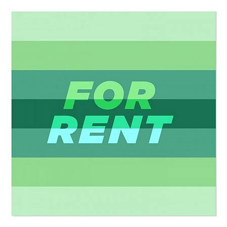 24x24 Modern Gradient Window Cling for Rent CGSignLab 5-Pack