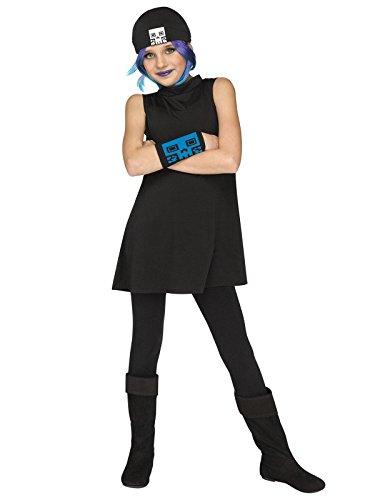 Fun World Big Girl's Jailbreak Child Costume Childrens Costume, Black, Small