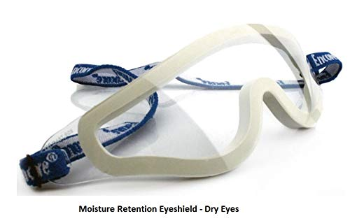 Moisture Retention Eye Shield for Dry Eyes by ENCORE Protective Polycarbonate Dual Eye Shield - Dry Eyes
