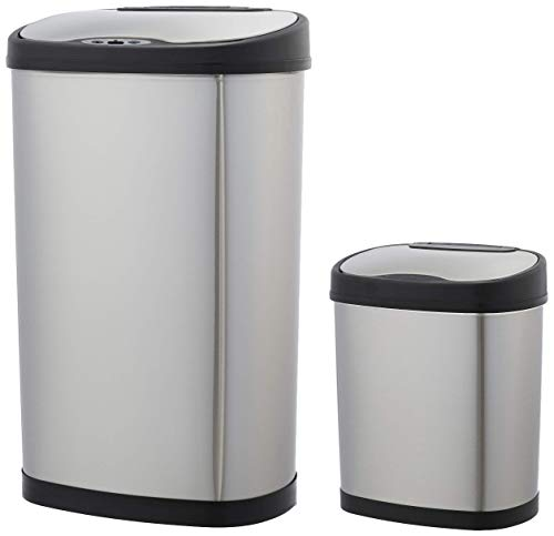 AmazonBasics Automatic Trash Can Set