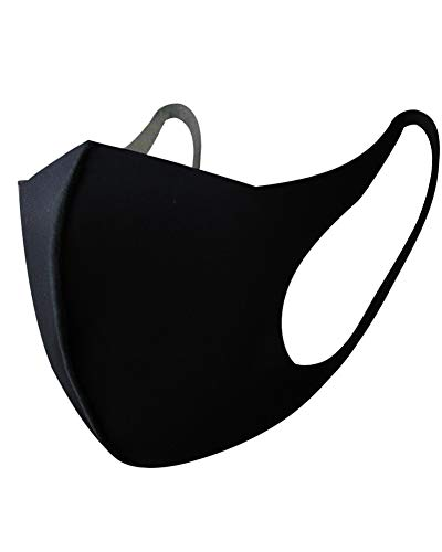 Mouth Mask Protective Fashion Air Mask Anti Dust Washable and Reusable Double Layered Face Mask Black