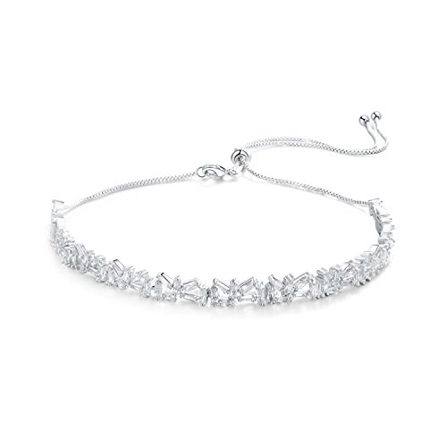 OSIANA- Womens Choker Adjustable Brass with CZ Crystal Necklace