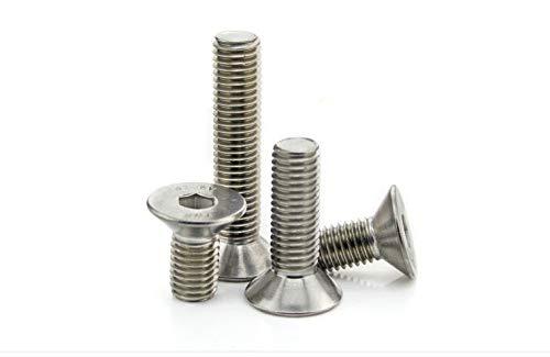 Dimensions: M10x100 mm Ochoos 5pcs Stainless Steel Sink Head hex Socket Screws M10*55//60//65//70-100 mm Flat Head hex Socket Screws Bolts
