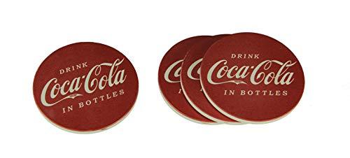 Coca-Cola Vintage Sign Round Stone Coaster Set of 4