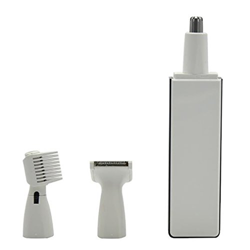 LL-Multifunction Personal Electric Nose Ear Hair Trimmer Removal With LED Light, white