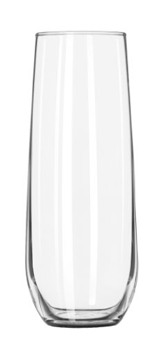 Libbey 8.5 oz. Stemless Flute Glasses in Clear, Set of 12 (Flute Glass)