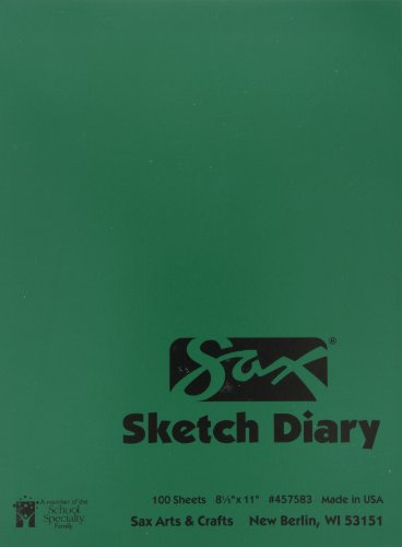 Sax Artists Sketch Diary - 8 1/2 x 11 inches - 100 Sheets per Pad - White (Diary Sketch Artists)