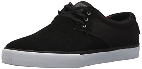 Lakai Mens Skateboard Shoe - Lakai Men's Daly Skate Shoe, Black Suede, 12 M US