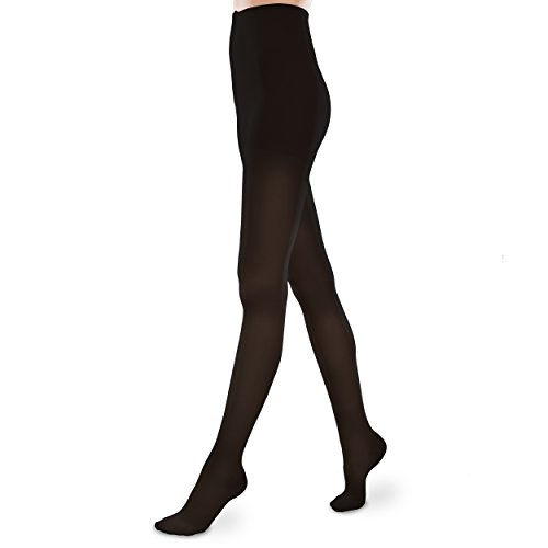 Sheer Ease Women's Support Pantyhose – 15-20mmHg Mild Compression Stockings (Black, Small Short)