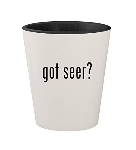 (got seer? - Ceramic White Outer & Black Inner 1.5oz Shot Glass)
