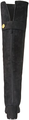 Nine West Women's Queddy Suede Over the Knee Boot, Black, 7 Medium US by Nine West (Image #2)