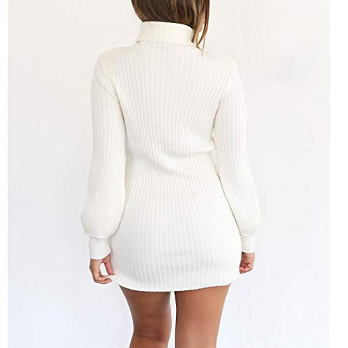 Blouse Haut Shirt Hiver Oversize Longues NINGSANJIN Casual Femme Col Pull Blanc Robe Pull Manches Tops Tunique AUAfqOgw