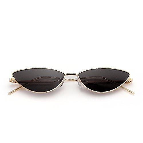 51a371507f 50% de descuento Gafas de Sol Pequeña Ojos de Gato Lentes Teñido Claro  Triángulo Metal