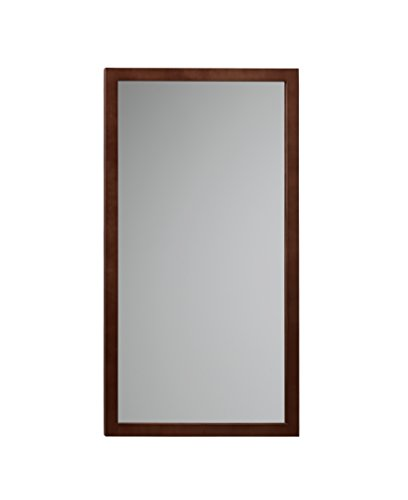 Deco Ada Sconce (RONBOW Alina 17'' x 31'' Solid Wood Frame Wall Decor Rectangle Bathroom Mirror in Dark Cherry 600118-H01)